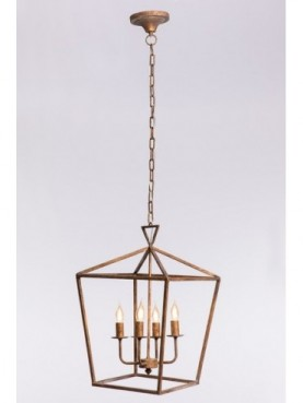 LAMP TECHO 40,5*40,5*60cm QJB13507 GOLDEN