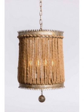 LAMP TECHO 42*42*45cm QJA12118-1509D SILVER