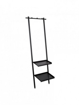 PERCHERO NEGRO METAL INDUSTRIAL 59 X 39 X 177,50 CM